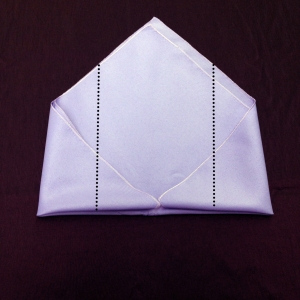Envelope Napkin Fold Step 4