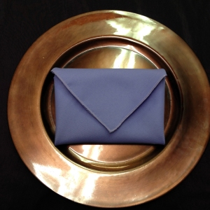 Envelope Napkin Fold on Charger